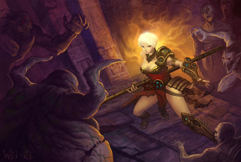 Diablo 3 nude monk fucks scenes