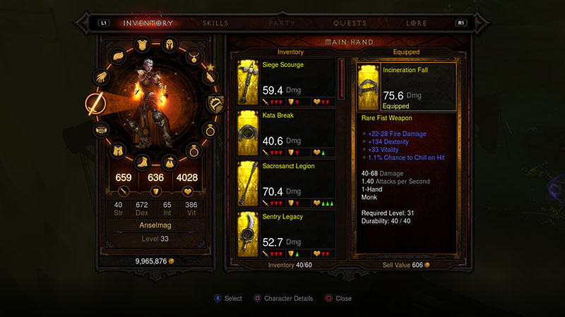 Inventory - Game Guide - Diablo III